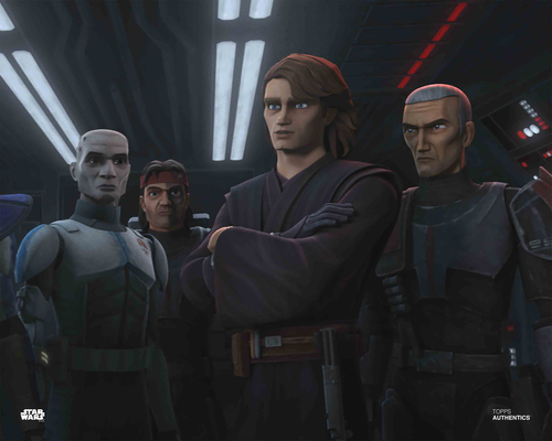 Anakin Skywalker and Bad Batch Clone Troopers