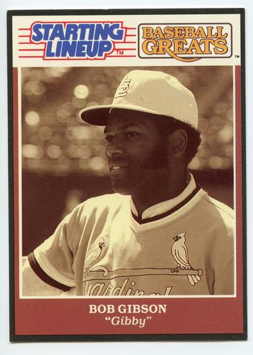 Photo of 1989 Kenner Starting Lineup Greats Cards #8 Bob Gibson