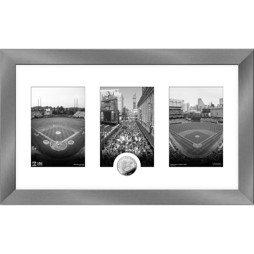 Photo of Baltimore Orioles Art Deco Silver Coin Photo Mint