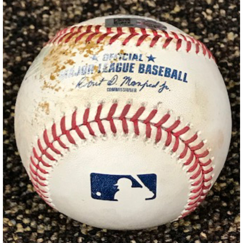 Photo of 8/14/20 Game-Used Baseball: Merrill Kelly vs. Trent Grisham (Struck Out Swinging) and Manny Machado (Reached on Throwing Error by Andy Young, Machado Advanced to 2nd)