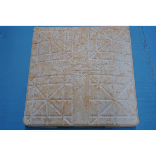 Photo of Game-Used 2nd Base - 2020 ALDS - San Diego Padres vs. Los Angeles Dodgers - Game 1: Innings 1-9