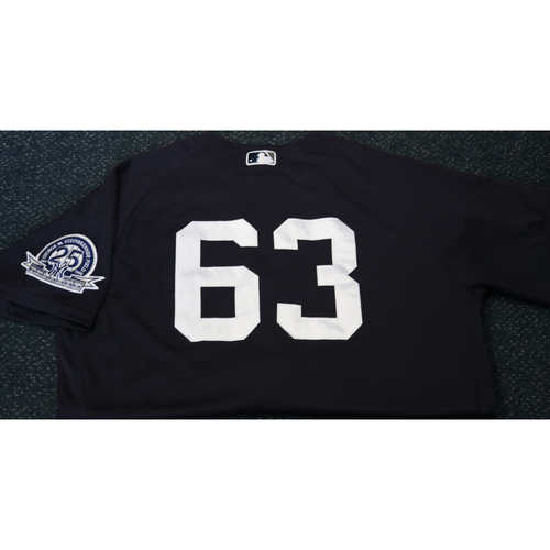 Photo of Team-Issued Spring Training Jersey - PJ Pilittere - #63 - Jersey Size - 46