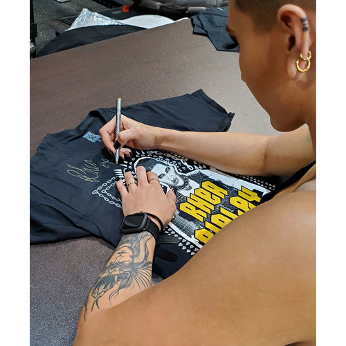 "Photo of Rhea Ripley SIGNED ""This Is My Brutality"" Special Edition Shirt"