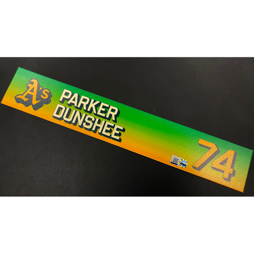 Photo of Team Issued 2020 Locker Nameplate - Parker Dunshee