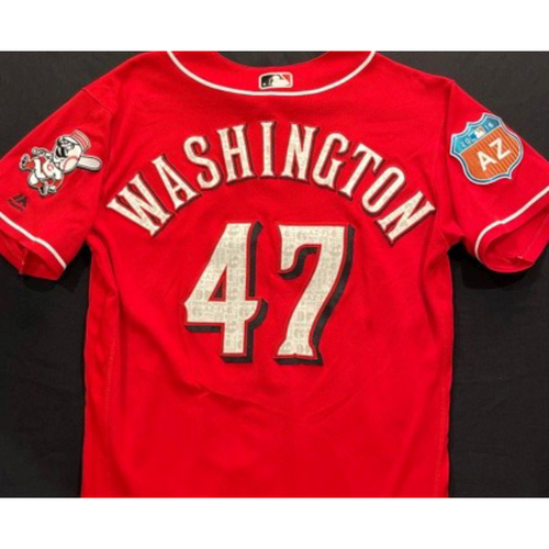 Photo of WASHINGTON -- Authentic Reds Jersey -- $1 Jersey Auction -- $5 Shipping -- Size 44 (Not MLB Authenticated)