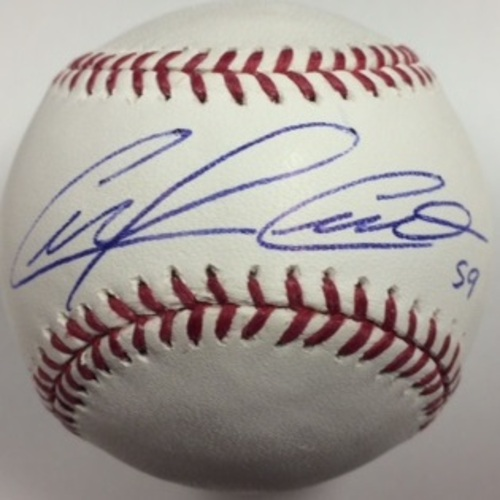 Photo of Carlos Carrasco Autographed Baseball