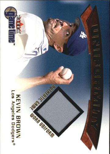 Photo of 2001 Fleer Game Time Uniformity #2 Kevin Brown