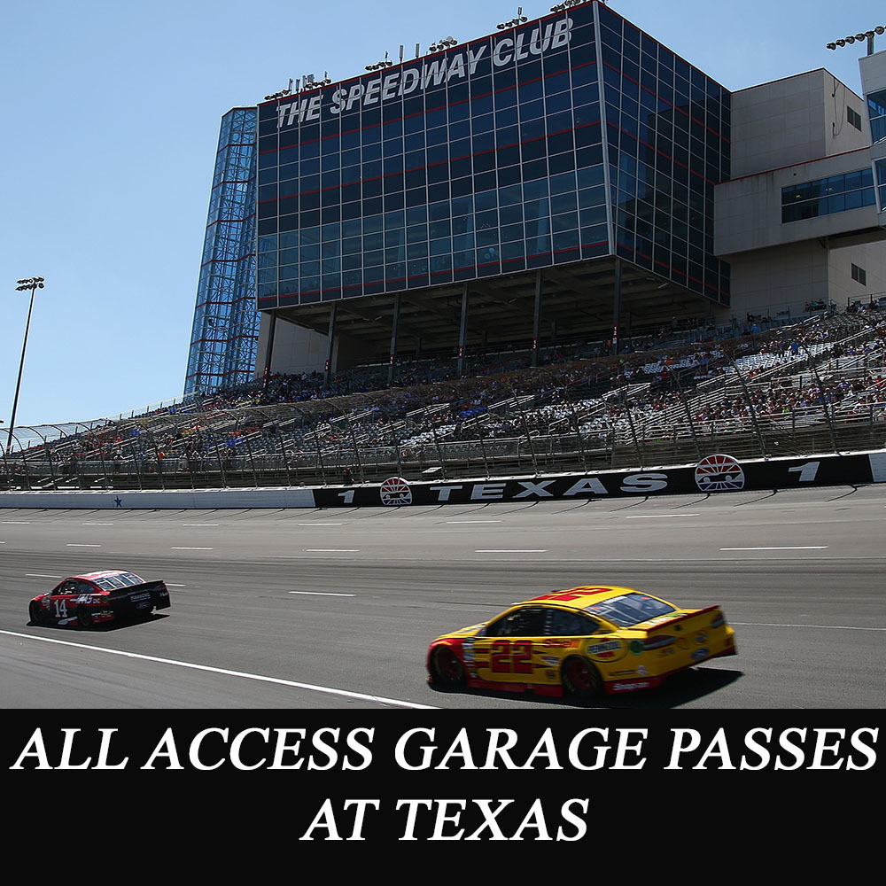 All Access NASCAR Garage Passes at Texas - benefitting the Paralyzed Veterans of America!