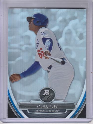Photo of 2013 Bowman Platinum Prospects #BPP49A Yasiel Puig  Rookie Card