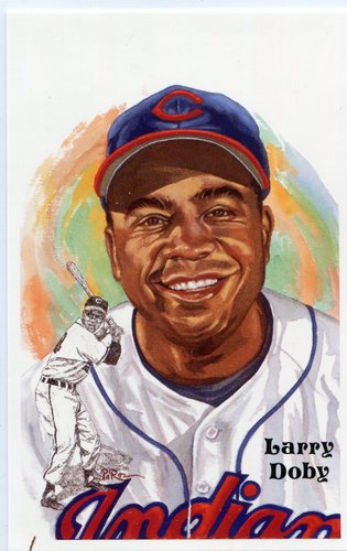 Photo of 1980-02 Perez-Steele Hall of Fame Postcards #234 Larry Doby -- HOF Class of 1998
