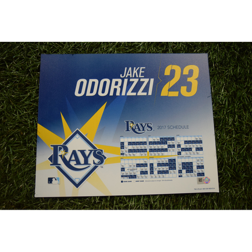 2017 Team-Issued Locker Tag - Jake Odorizzi