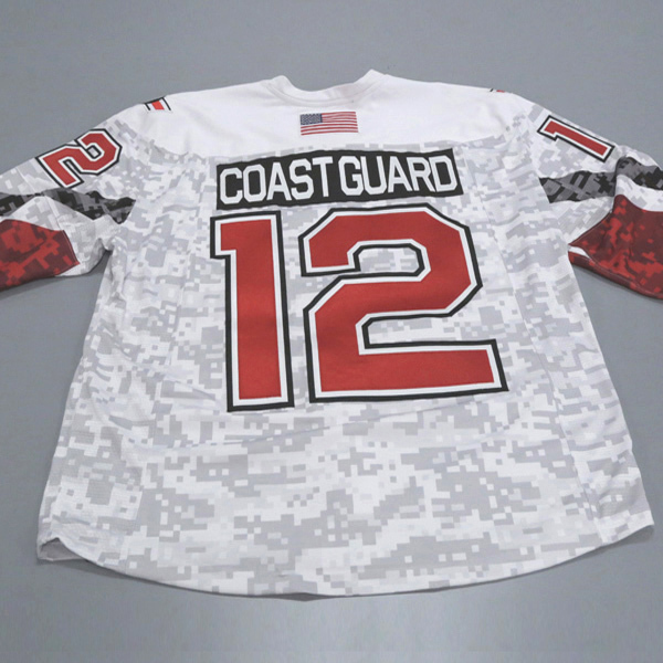 "Photo of Ohio State Ice Hockey Military Appreciation Jersey #12 ""Coast Guard"" / Size 56"