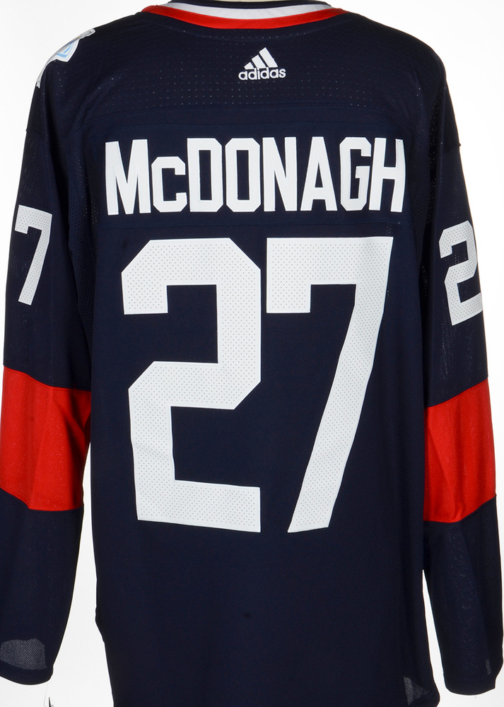 Ryan McDonagh New York Rangers Adidas Team USA 2016 World Cup of Hockey Unsigned Jersey