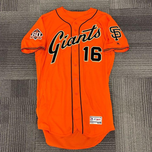 Photo of End of Year Auction - 2018 Team Issued Orange Friday Home Alternate Jersey - #16 Aramis Garcia - size 46