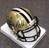 NFL - Saints Mark Ingram signed Saints mini helmet