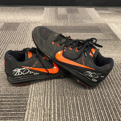 Photo of 2018 Autographed Cleats - #60 Hunter Strickland - Size 13