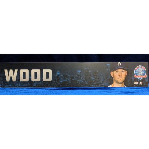 Photo of Alex Wood 2018 Regular Season Team-Issued Locker Tag