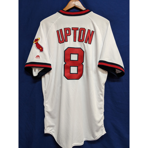 Photo of Justin Upton 2018 Team-Issued Home Throw Back Jersey