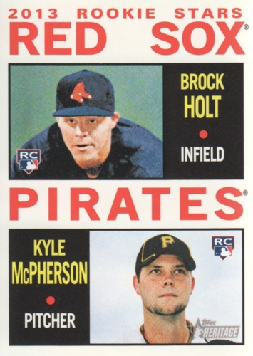 Photo of 2013 Topps Heritage #74 Brock Holt RC/Kyle McPherson RC