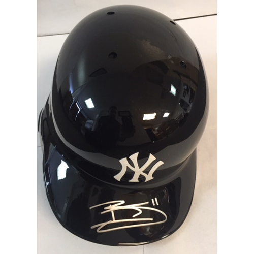 Photo of Brett Gardner Autographed Yankees Batting Helmet