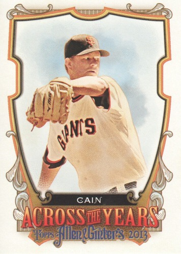 Photo of 2013 Topps Allen and Ginter Across the Years #MCN Matt Cain