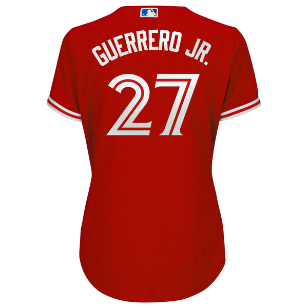 Toronto Blue Jays Women's Vladimir Guerrero Jr. Alternate Red Jersey by Majestic