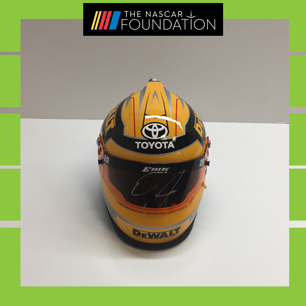 NASCAR's Erik Jones Autographed Mini-Helmet!