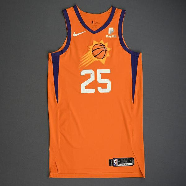 Image of Mikal Bridges - Phoenix Suns - Game-Worn Statement Edition Jersey - 2019-20 Season
