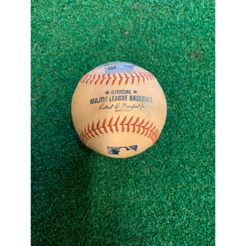 Photo of 2020 Houston Astros Game-Used Baseball (August) - PRESALE: Choose your Game Date!