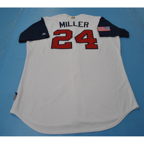 Photo of 2017 World Baseball Classic Game-Used Jersey - Andrew Miller - USA (Size 48)