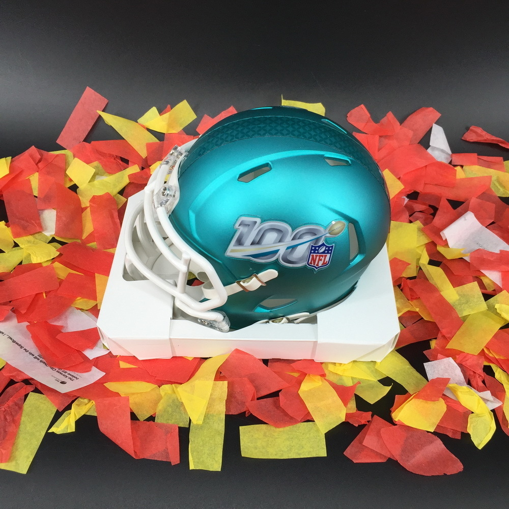 SB LIV Mini Helmet + a jar of confetti used in the post game field celebration