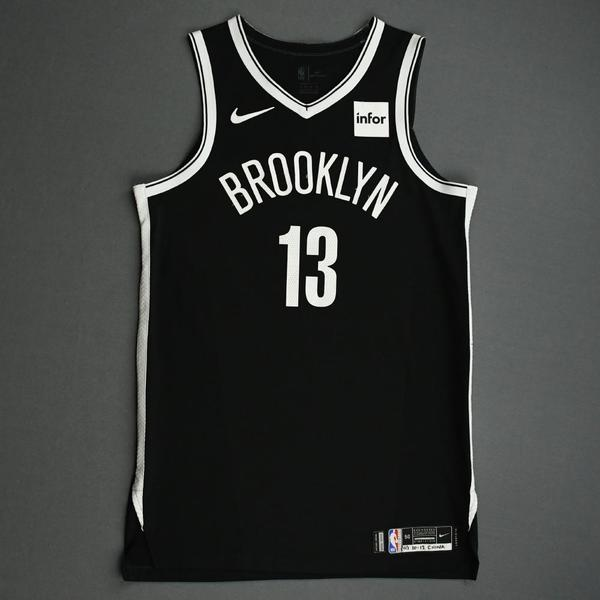 Image of Dzanan Musa - Brooklyn Nets - NBA China Games - Game-Worn Icon Edition Jersey - 2019-20 NBA Season