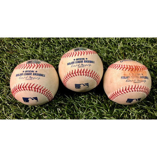 Game Used Baseball Package: Blake Snell strikes out Teoscar Hernandez, Travis Shaw and Danny Jansen - Blake Snell Strikes Out the Side - August 24, 2020 v TOR