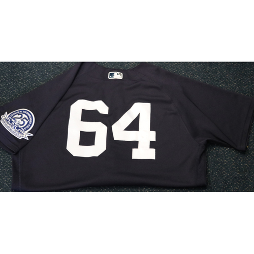 Photo of Team-Issued Spring Training Jersey - Carlos Mendoza - #64 - Jersey Size - 44