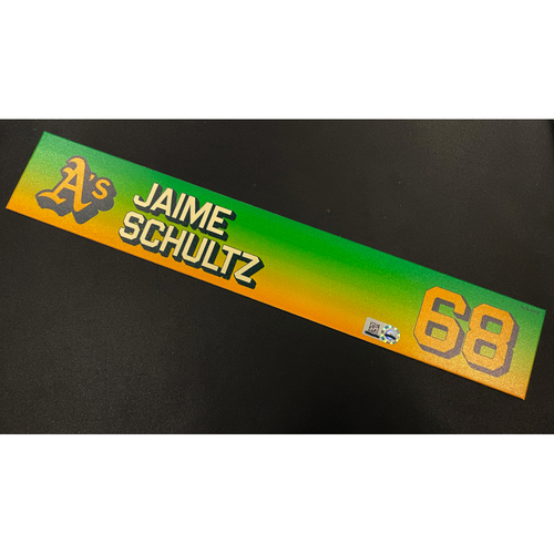 Photo of Team Issued 2020 Locker Nameplate - Jaime Schultz