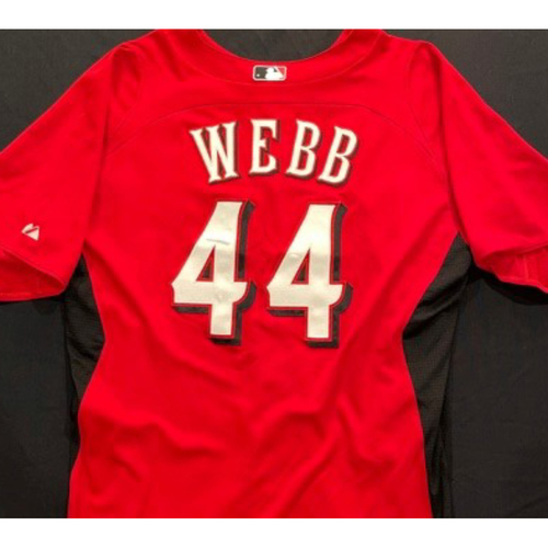 Photo of WEBB-44 -- Authentic Reds Jersey -- $1 Jersey Auction -- $5 Shipping -- Size 46 (Not MLB Authenticated)