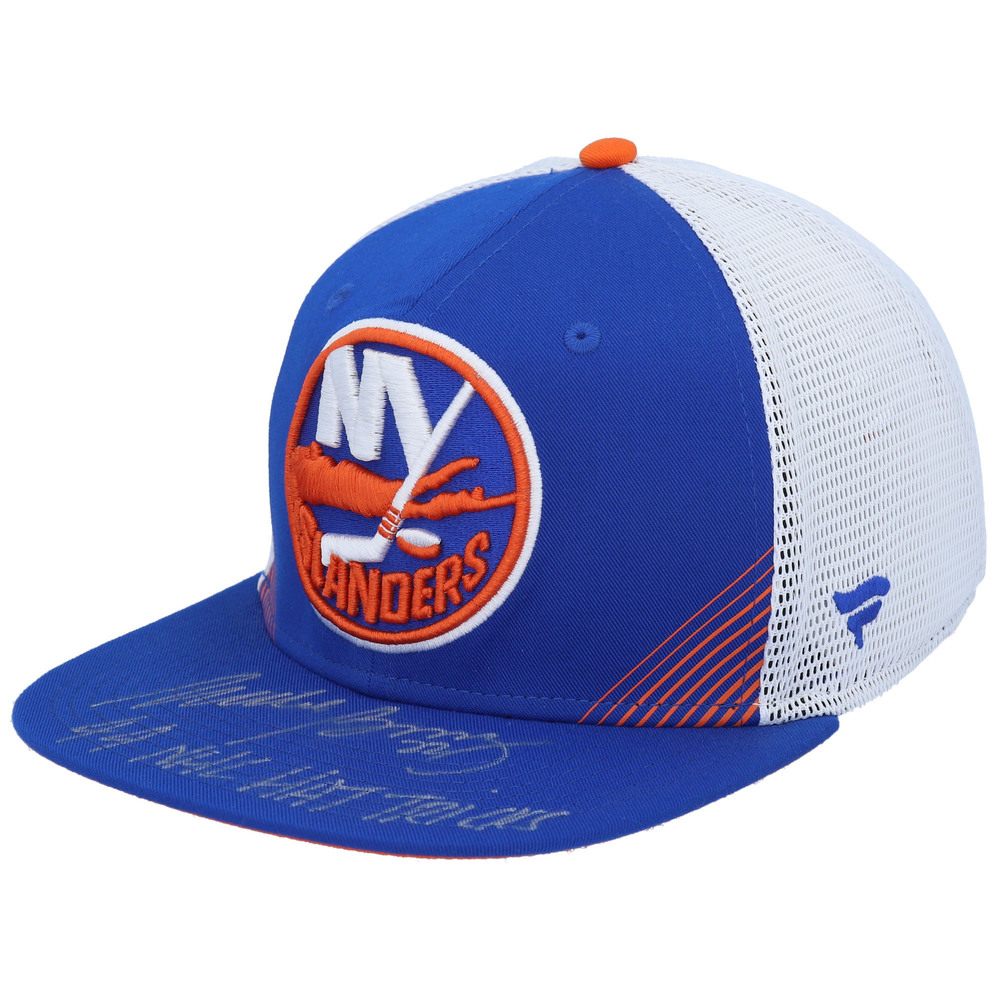 Mike Bossy New York Islanders Autographed Blue Fanatics Snapback with