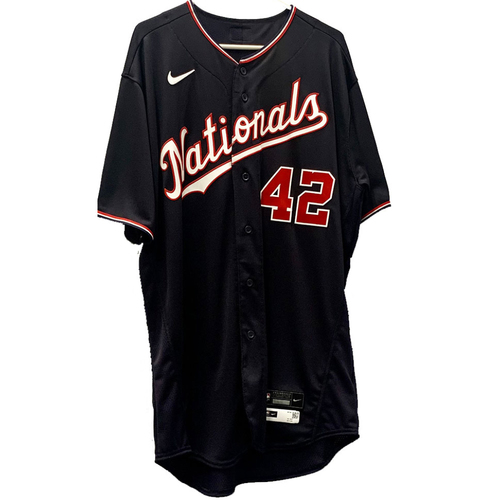 Photo of Max Scherzer - Jackie Robinson Day Autographed Jersey - Size 48TC