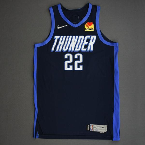 Image of Isaiah Roby - Oklahoma City Thunder - Game-Worn Earned Edition Jersey - 2020-21 NBA Season
