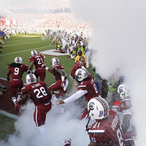 Photo of Watch 2001 Team Entrance from Behind the Tunnel vs. Tennessee - Saturday, Oct. 29, 2016 (2 of 2)