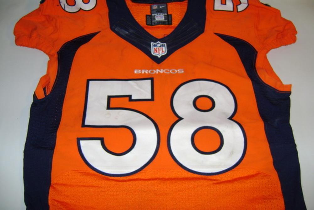 pretty nice 5a118 e03c1 NFL Auction | BCA - Broncos Von Miller game worn Broncos ...