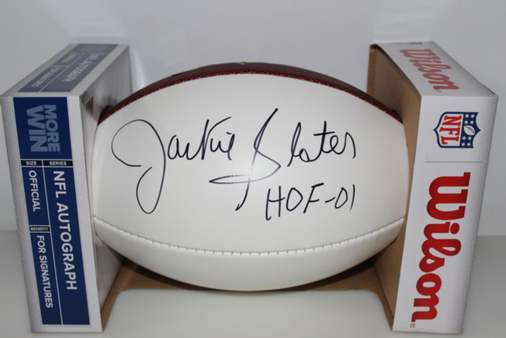 HOF - RAMS JACKIE SLATER SIGNED PANEL BALL