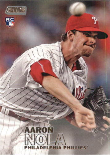 Photo of 2016 Stadium Club #295A Aaron Nola Rookie Card