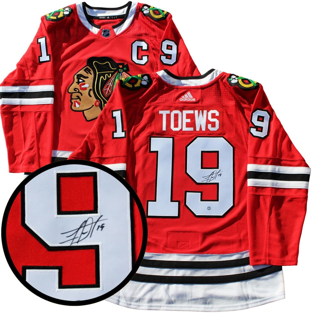 Jonathan Toews - Signed Chicago Blackhawks Pro Red 2017-2018 Jersey