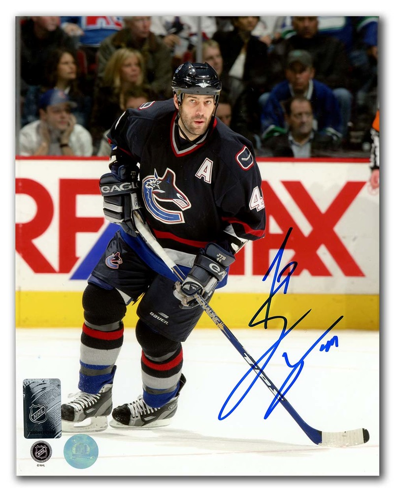Todd Bertuzzi Vancouver Canucks Autographed Hockey Game Action 8x10 Photo