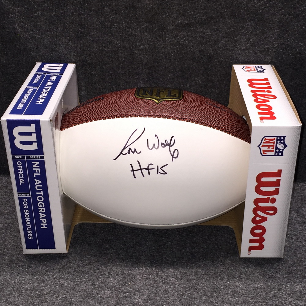 HOF - PACKERS RON WOLF SIGNED PANEL BALL