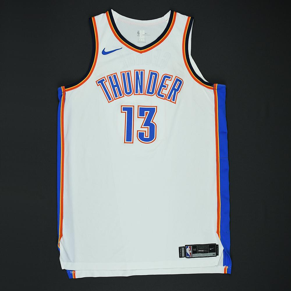 Paul George - Oklahoma City Thunder - 2018 NBA Playoffs Game-Worn Jersey - Game-High 36 Points