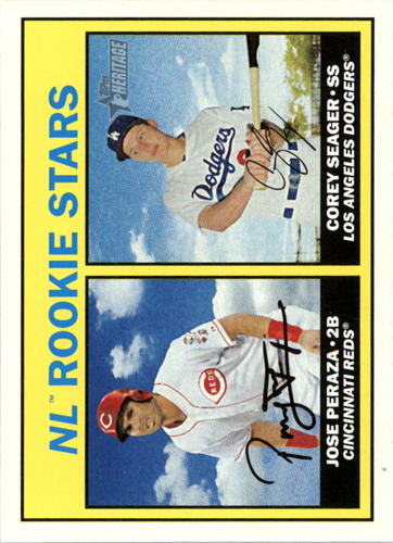 Photo of 2016 Topps Heritage #168A Corey Seager RC/Jose Peraza Rookie Cards