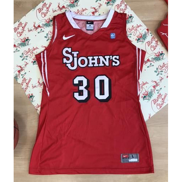 Photo of Nike Red No. 30 Basketball Jersey in a Women's Size Large