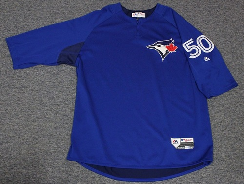 Photo of Authenticated Team Issued Batting Practice Jersey - #50 Jose Fernandez. Size XL.